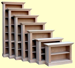 Quality wood furniture unfinished bookcases leesville for Furniture quality lumber