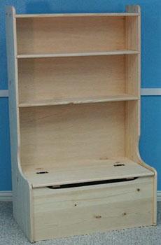 Toy Box Bookshelf Combo Plans