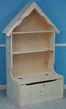 Housetop Bookcase Toybox Combo