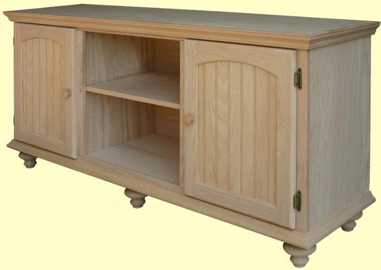 Unfinished Furniture Tv Stand Wood Decor Gyleshomes Com