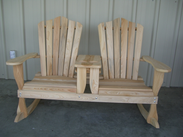 outdoor double rocking chair 2